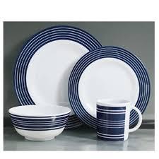dinner sets uk online. flamefield navy pinstripe 16pc melamine dinner set. sets uk online