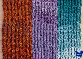 Lion Brand Homespun Yarn Color Chart Around The Post Double Crochet Scarf