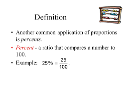 definition another common of proportions is percents