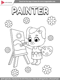 Free printable coloring pages for children that you can print out and color. Painter Coloring Pages For Kids