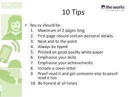 10. 10 Tips  You cv ...
