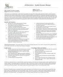 Quality Control Analyst Job Description Production Manager