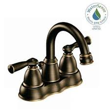 centerset 2 handle high arc bathroom faucet in mediterranean bronze