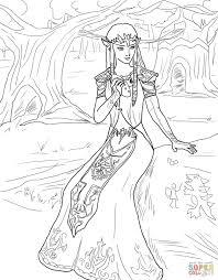 Coloriage Princesse Zelda Coloriages Imprimer Gratuits Coloriage Princesse Zelda L