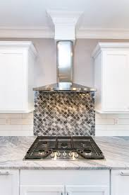 Accent Tiles For Kitchen Grey Lantern Accent Tiles And A Contemporary Take On White Subway