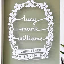 personalised christening gift art