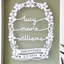 personalised christening gift art