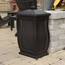 decorative trash cans outdoor patio designs garbage