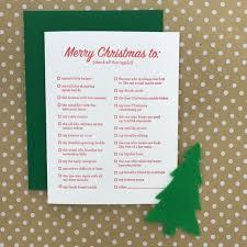 Blank Christmas List Merry Christmas To Holiday List Greeting Card