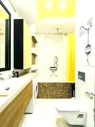 yellow tile bathroom ideas example of a mid sized trendy master white black subway ye