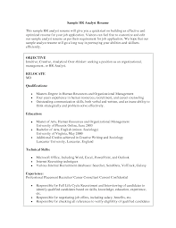 Hr Analyst Sample Resume Human Resources Analyst Sample Resume shalomhouseus 1