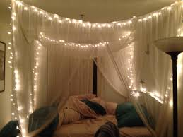 Wedding Bedroom Decorations Twinkle Lights In Canopy Bed Bedroom Pinterest Receptions