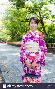 Kimono clad asian teen