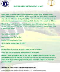 First Responders Golf Outing Flyer Rose Catering Ii Inc
