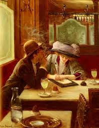 la lettre 1908 jean béraud french oil on canvas