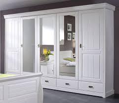 Schlafzimmer Set 4teilig Kiefer Massiv Weiß Gewachst