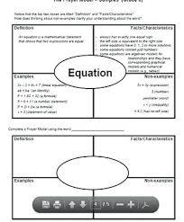 Frayer Model For Math Ex Math Frayer Model Template Revolvedesign