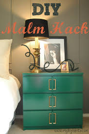 diy lacquer furniture. ikea hack diy makeover malm dresser side table easy lacquer furniture d