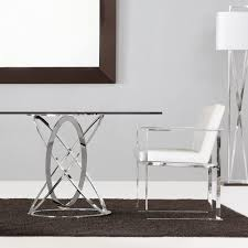 london collection modern oval glass dining table  juliettes