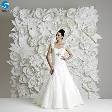 White Paper Flower Backdrop Artificial White Decoration Wedding Flower Backdrop Paper Flowers