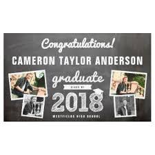 Chalkboard Sketch 2018 Photo Collage Grad Banner Graduation Gifts