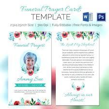 Free Funeral Card Template Memorial Card Template Free Download