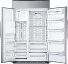 Largest Capacity Refrigerator Samsung Rs27fdbtnsr 48 Inch Built In Side By Side Refrigerator