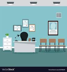 Image professional office Office Interior Elyssa Cohen Doctor Professional Office Hospital Room Vector Image