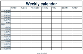 Monday To Sunday Schedule Template Hostingpremium Co