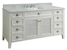 60 inch single sink bathroom vanity cottage beach style white color 60 x21