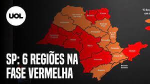SP: Capital regride, e seis regiões vão para a fase vermelha a partir de 2ª  - 22/01/2021 - UOL Notícias