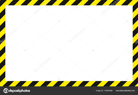Black And Yellow Stripes Border Warning Striped Rectangular Background Yellow And Black Stripes On