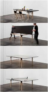 From a 8 people dining table to a full size ping-pong table! Brings