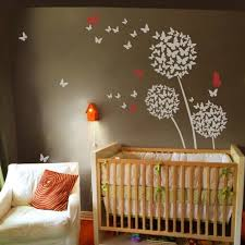 stickers geckoo image geckoo dandelion wall decal flower sticker nursery fl wall mural girl room