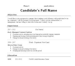 Sample Resume High School No Work Experience Samp Resume For