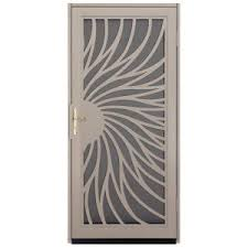 Unique Home Designs 36 In X 80 In Solstice Tan Surface Mount Unique Home Designs Security Door
