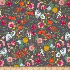 Art Gallery Fabrics - Discount Designer Fabric - Fabric.com & Art Gallery Emmy Grace Budquette Nightfall Adamdwight.com