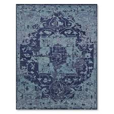mystic medallion hand knotted rug blue