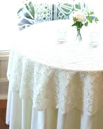 white lace round tablecloth wedding
