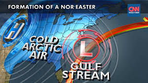 how does a nor easter form formation of a noreaster youtube