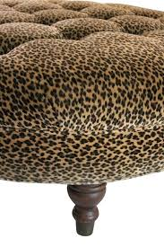 cowhide ottoman coffee table ottomans animal print coffee table cheetah print ottoman leopard intended for leopard