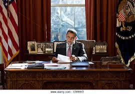 the oval office desk. President Barack Obama Reviews His Prepared Remarks On Egypt At The Resolute Desk In Oval Office R