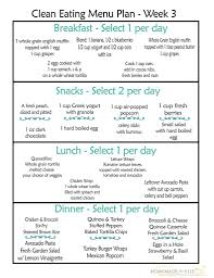 Clean Eating Meal Plan Pdf With Recipes Your Family Will