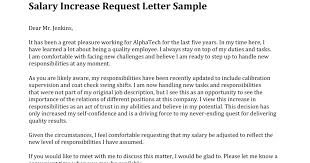 Salary Increase Letter Template Request Uk Format Of