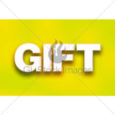 The Word Gift Gift Concept Colorful Word Art Gl Stock Images