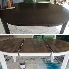 refinishing our dark wood table