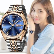 <b>2019 LIGE New</b> Rose Gold <b>Women</b> Watch Business Quartz Watch ...
