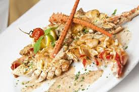 lobster thermidor with béchamel sauce