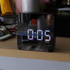 ds-6613 square hd <b>mirror alarm clock</b> multifunction digital alarm ...