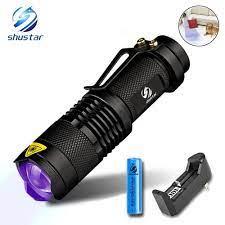 UV El Feneri Ultra Violet Işık Zoom Fonksiyonu Ile Mini UV Siyah Işık Pet  Idrar Lekeleri